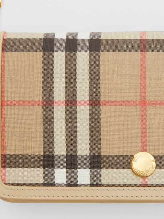 Vintage Check E-canvas Phone Wallet with Strap in Beige - Women | Burberry - cell image 1