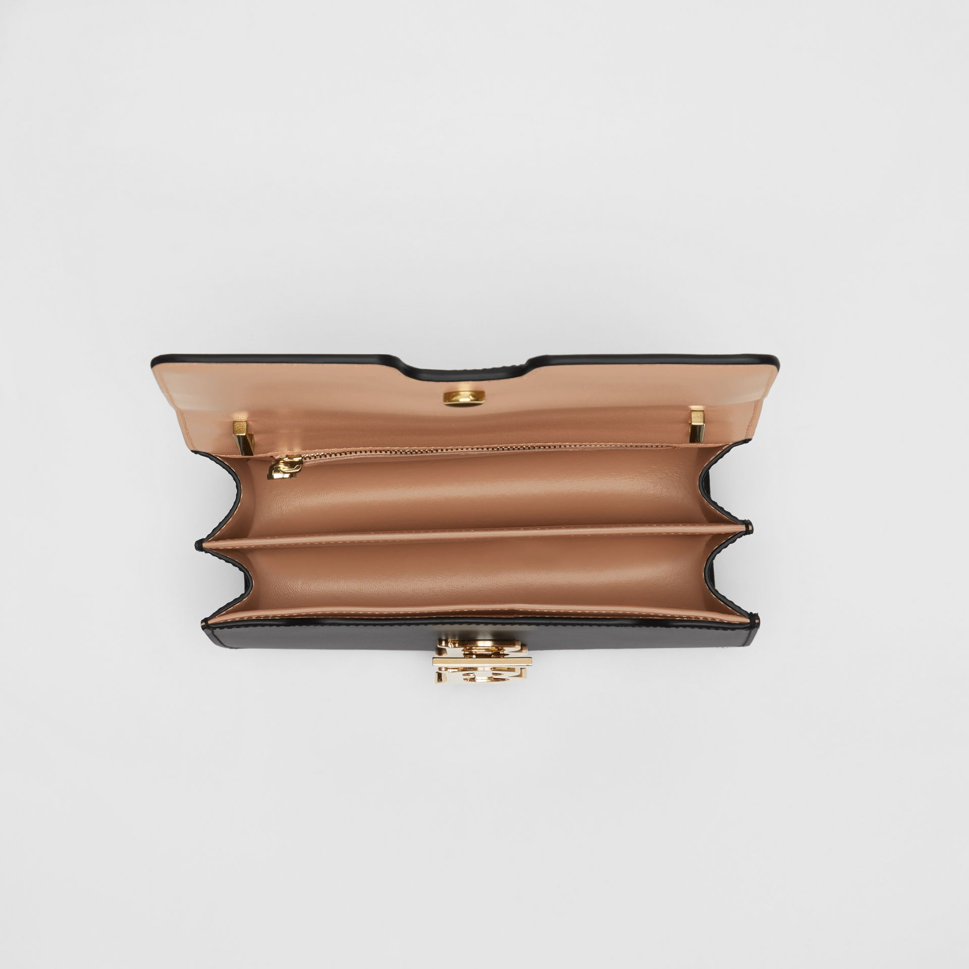 Small Leather TB Bag in Light Camel/black - Women | Burberry Australia - gallery image 4