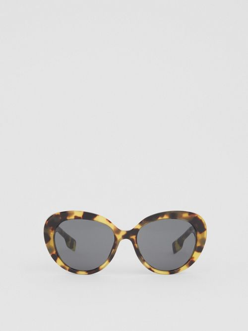 Burberry Sunglasses MONOGRAM MOTIF CAT-EYE FRAME SUNGLASSES