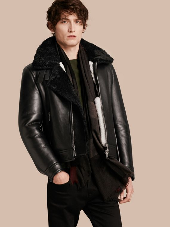 Lambskin and Shearling Aviator Jacket