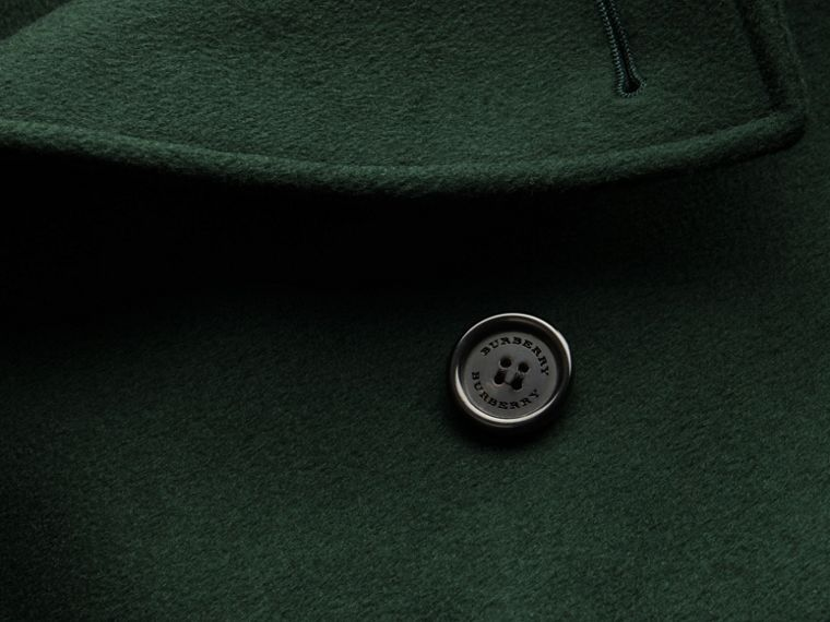 Dark military green Cashmere Trench Coat Dark Military Green - cell image 1