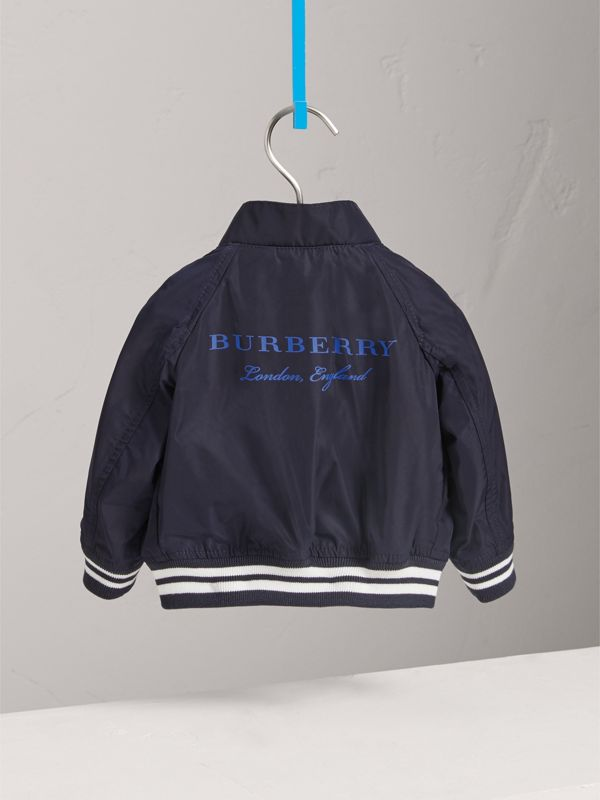 Lightweight Funnel-neck Jacket in Navy - Children | Burberry - cell image 3