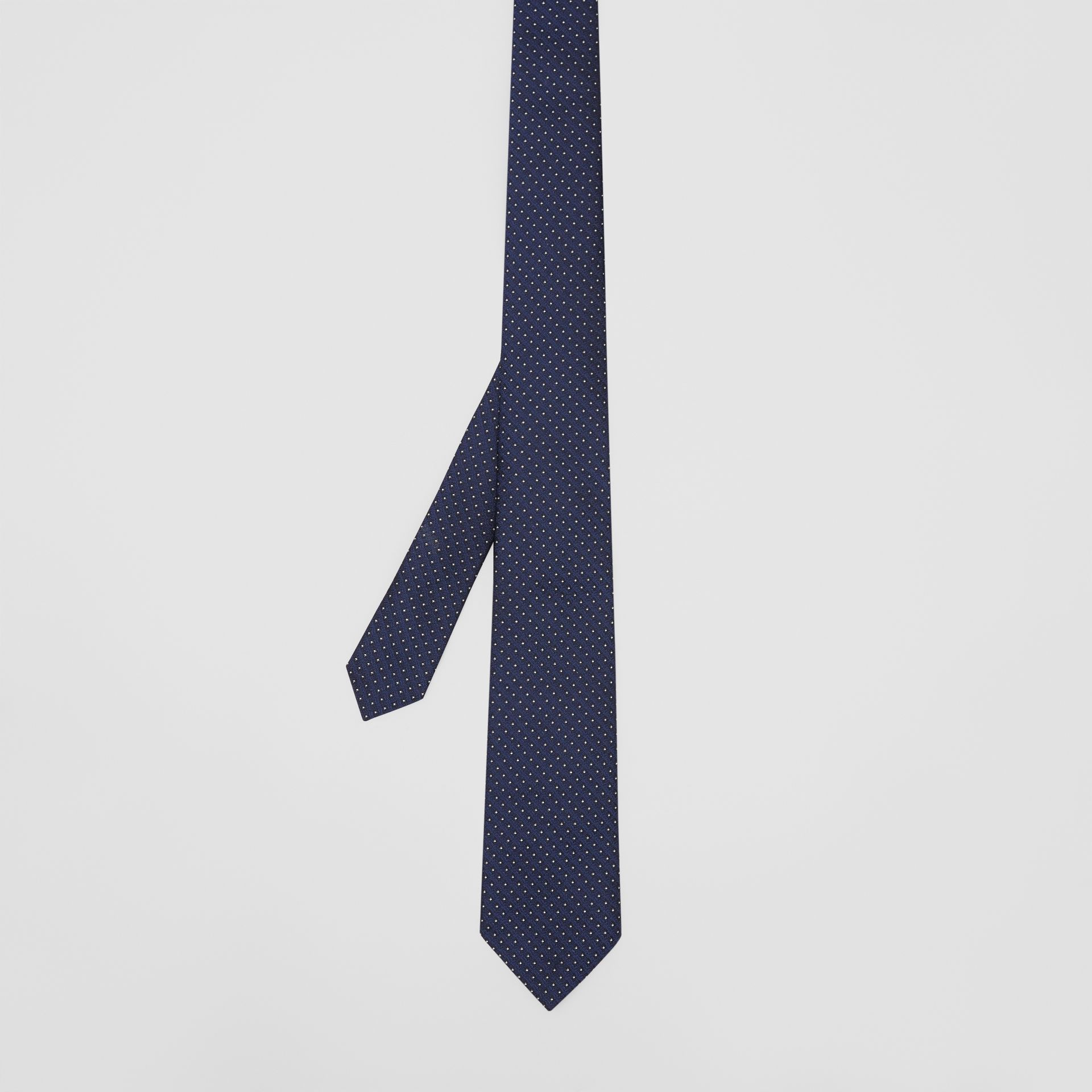 Classic Cut Micro Dot Silk Jacquard Tie in Navy - Men | Burberry - gallery image 4