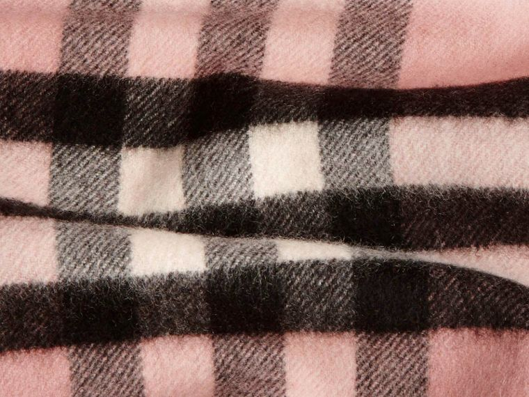 Ash rose The Classic Cashmere Scarf in Check Rose - cell image 4