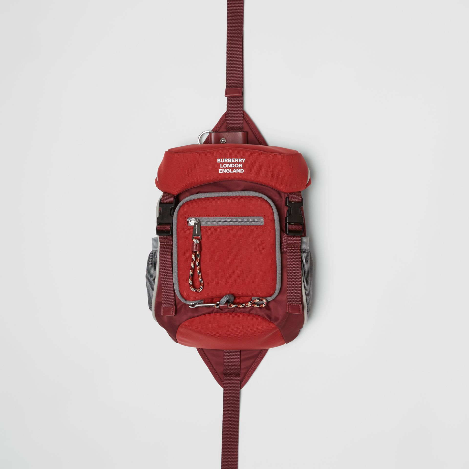 Logo Print Nylon Leo Belt Pack in Bright Red | Burberry Canada - gallery image 0