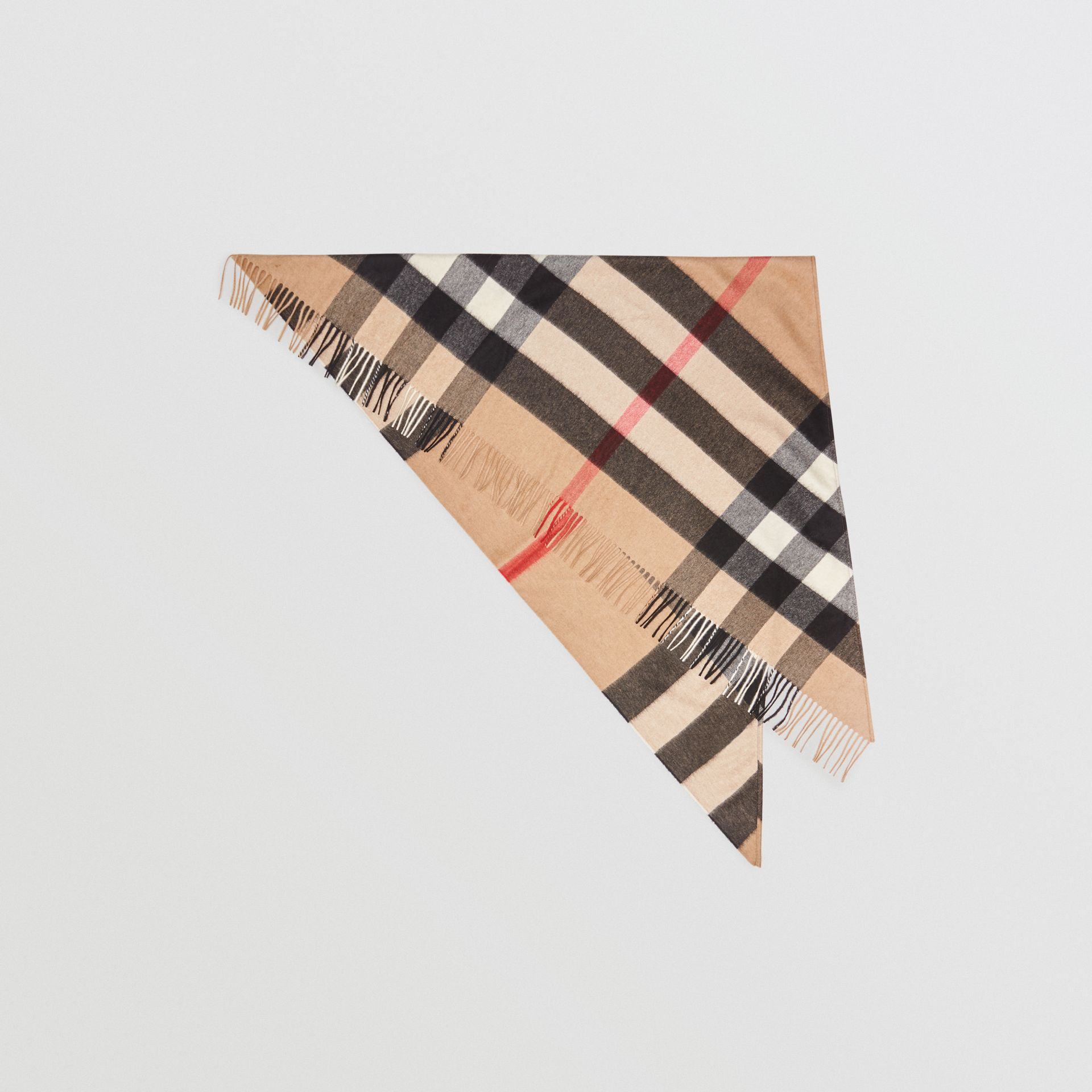 The Burberry Bandana in Check Cashmere in Camel | Burberry United Kingdom - gallery image 0