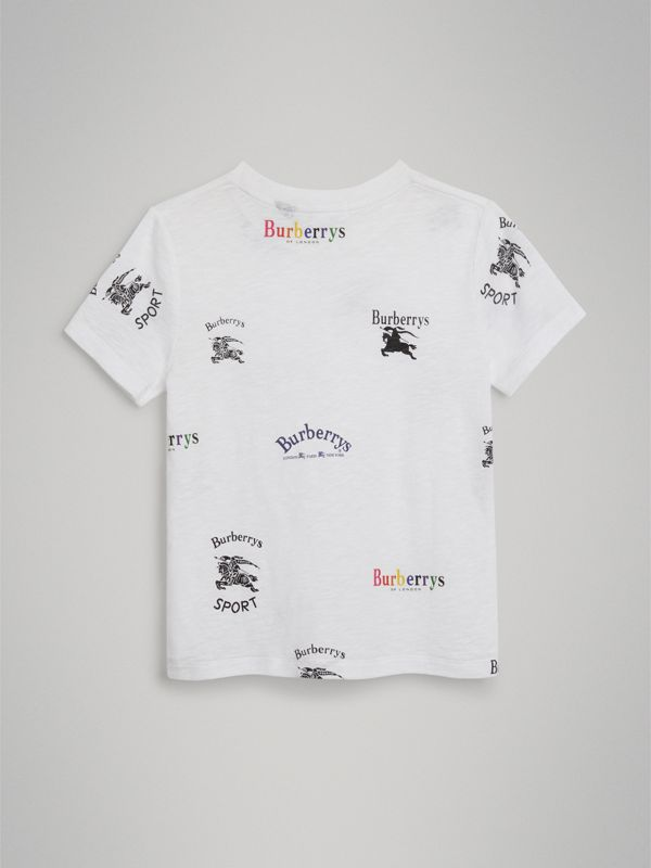 Archive Logo Print Jersey T-shirt in White | Burberry Canada - cell image 3