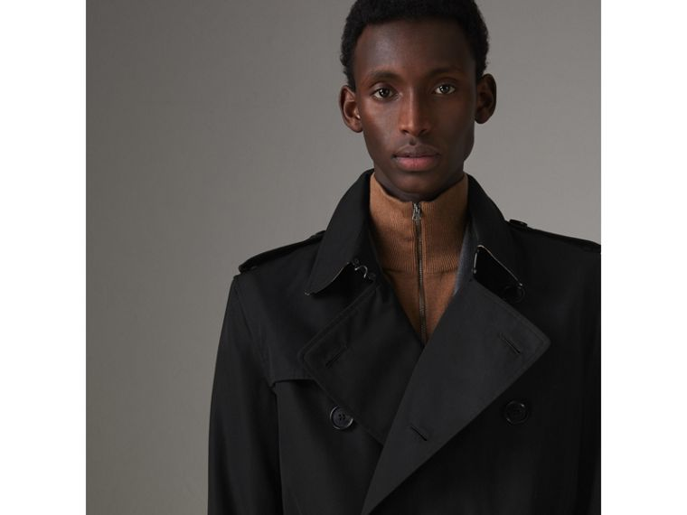 The Kensington Heritage Trench Coat in Black - Men | Burberry - cell image 4