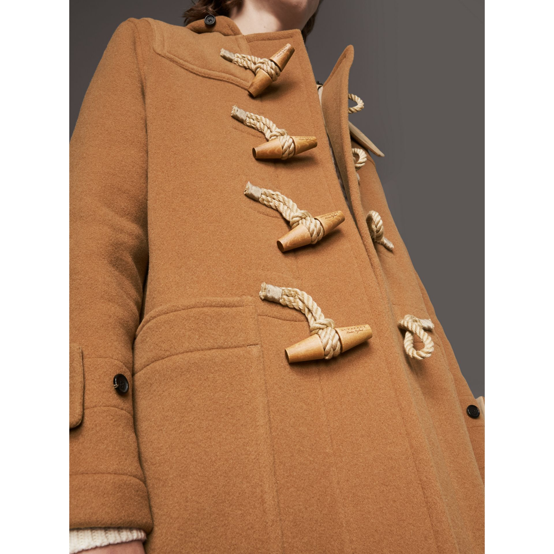 Duffle-coat The Greenwich (Camel Moyen) - Homme | Burberry - photo de la galerie 4