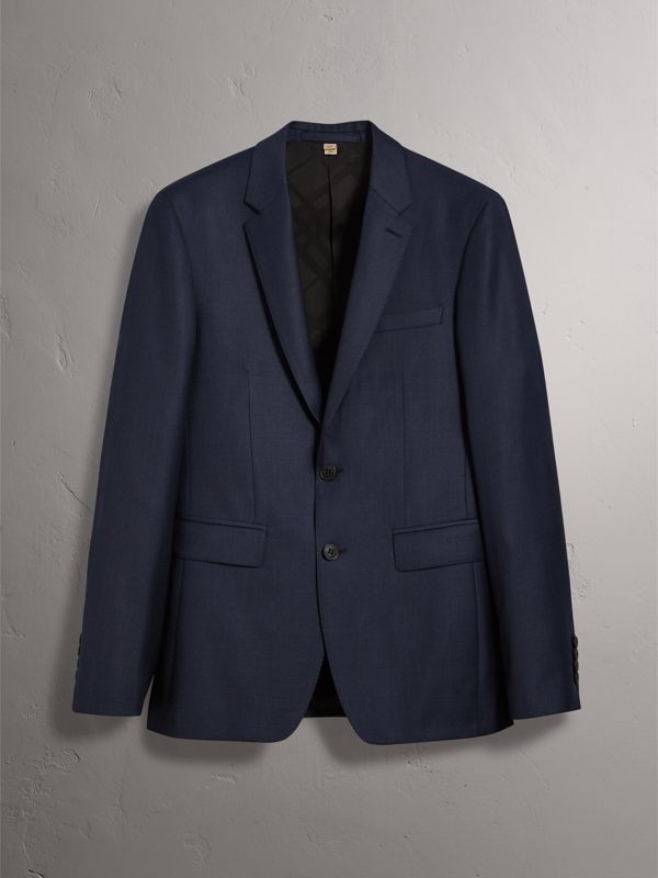 Slim Fit Travel Tailoring Wool Three-piece Suit in Navy - Men | Burberry - cell image 3