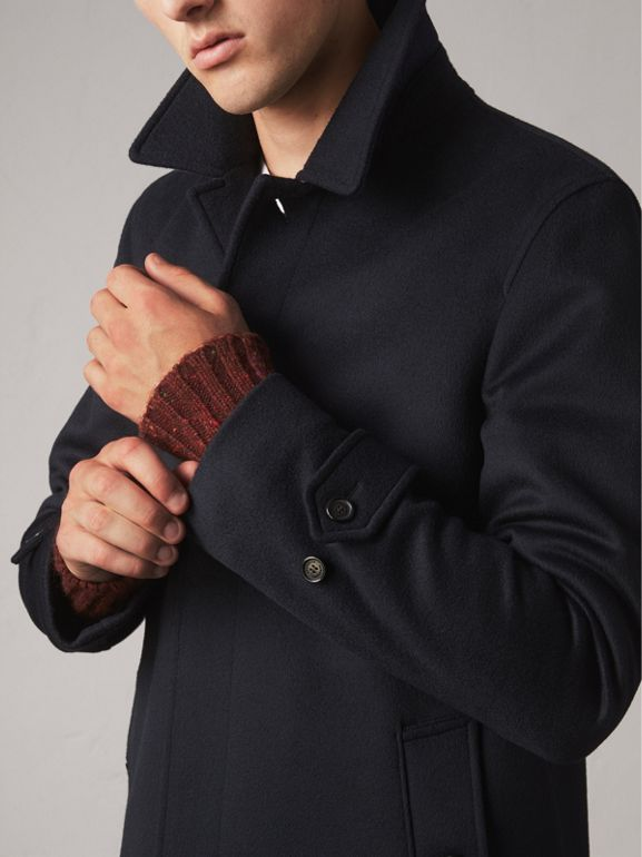 Wool Cashmere Car Coat in Navy | Burberry Singapore - cell image 1