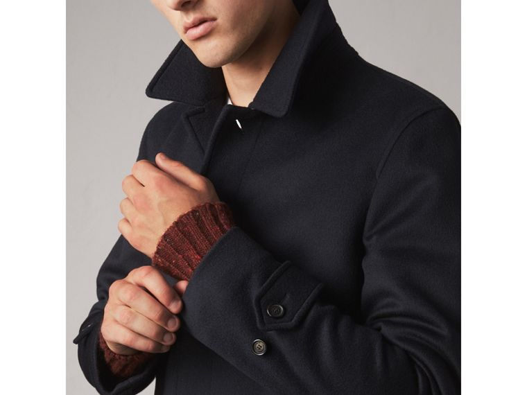Wool Cashmere Car Coat in Navy - Men | Burberry - cell image 1