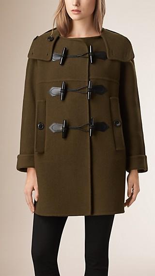 Oversize Virgin Wool Cashmere Duffle Coat