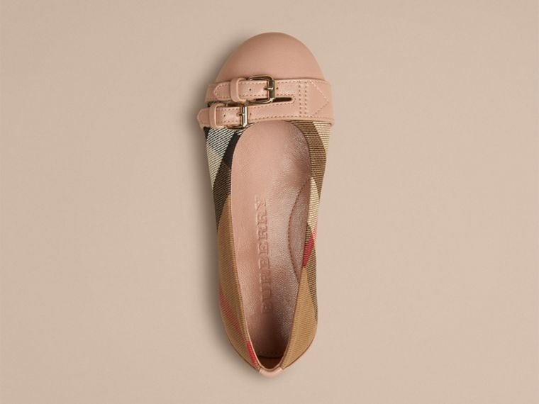 Nude blush Belt Detail House Check Ballerinas Nude Blush - cell image 2