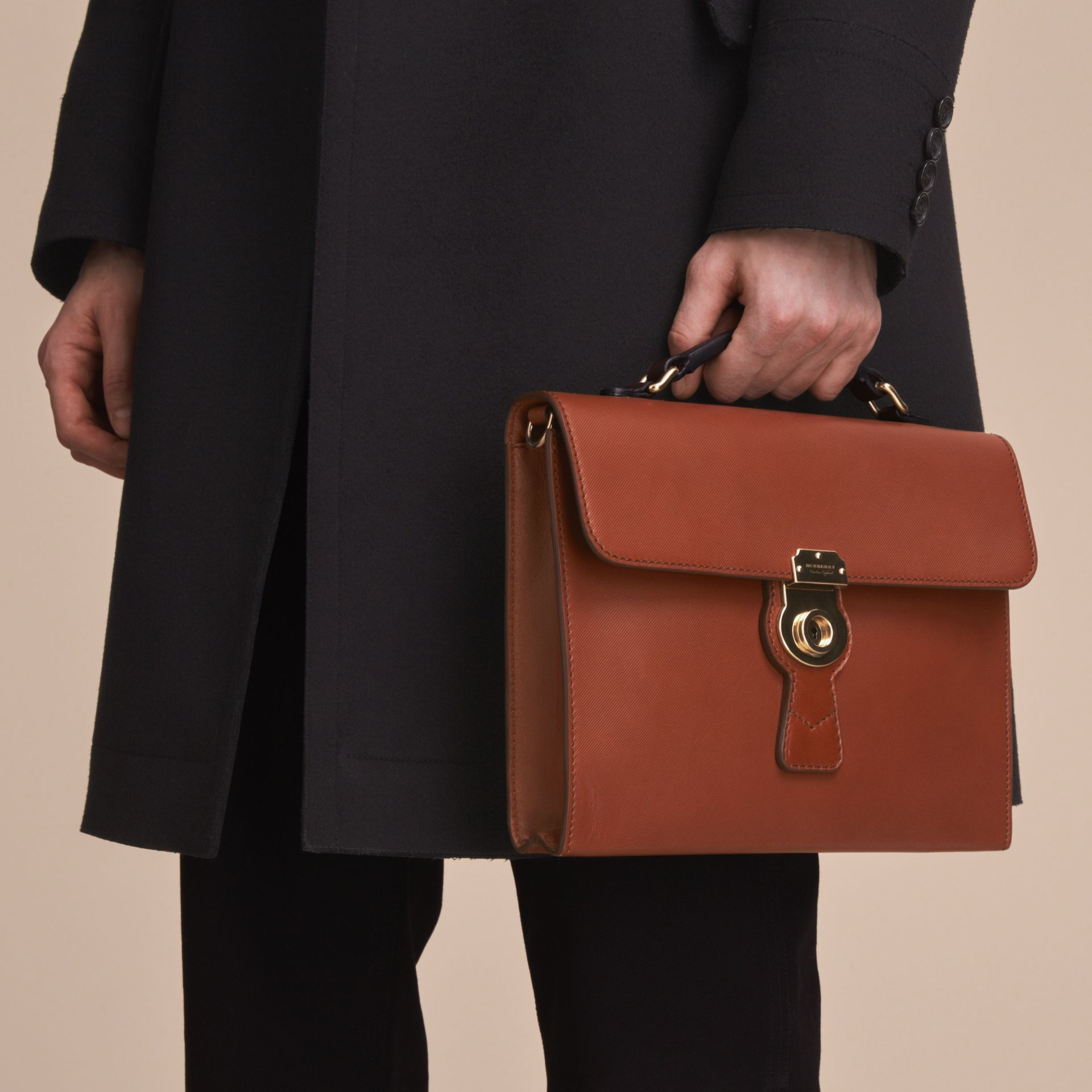 The DK88 Document Case in Tan - Men | Burberry - gallery image 8