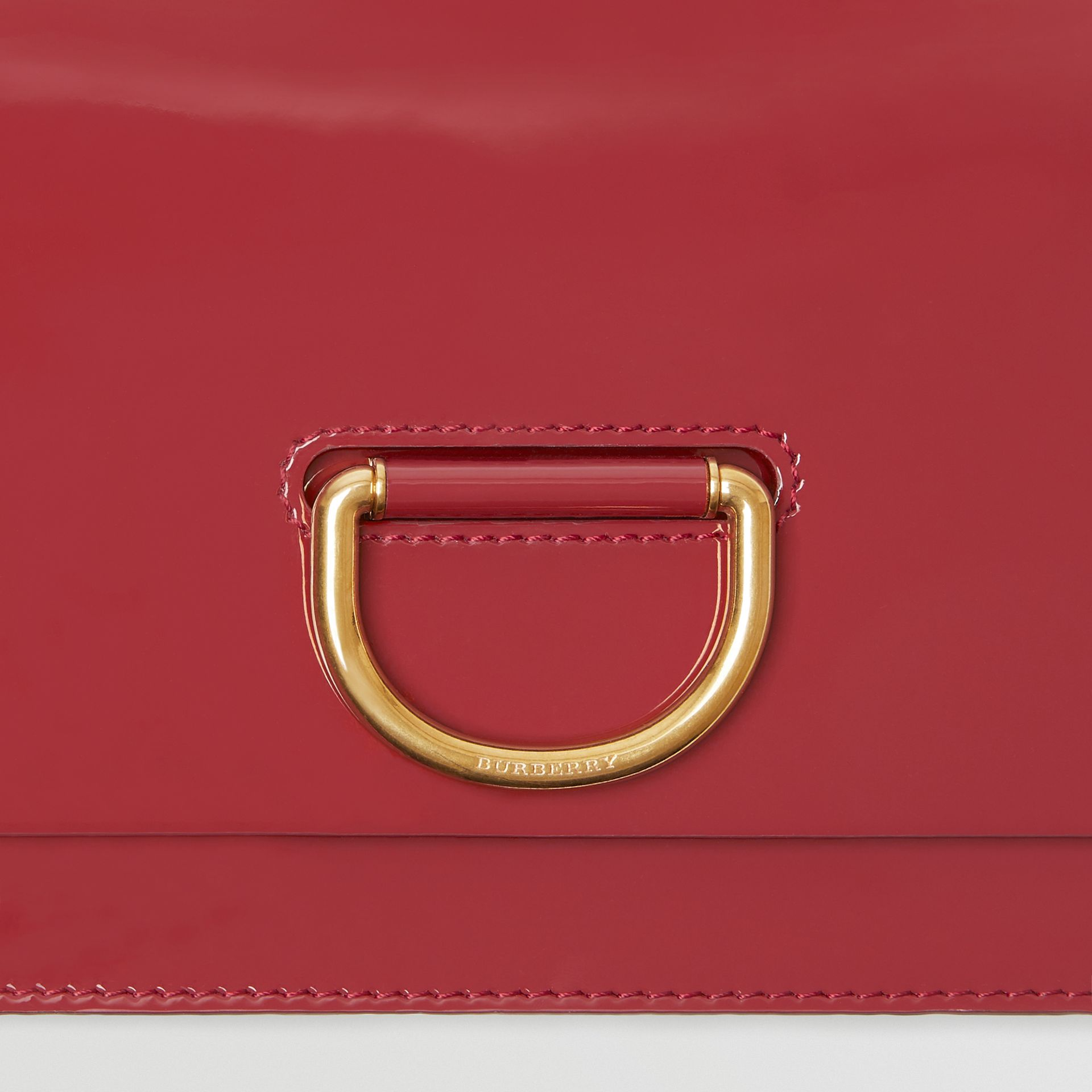 The Medium Patent Leather D-ring Bag in Crimson - Women | Burberry United Kingdom - gallery image 1