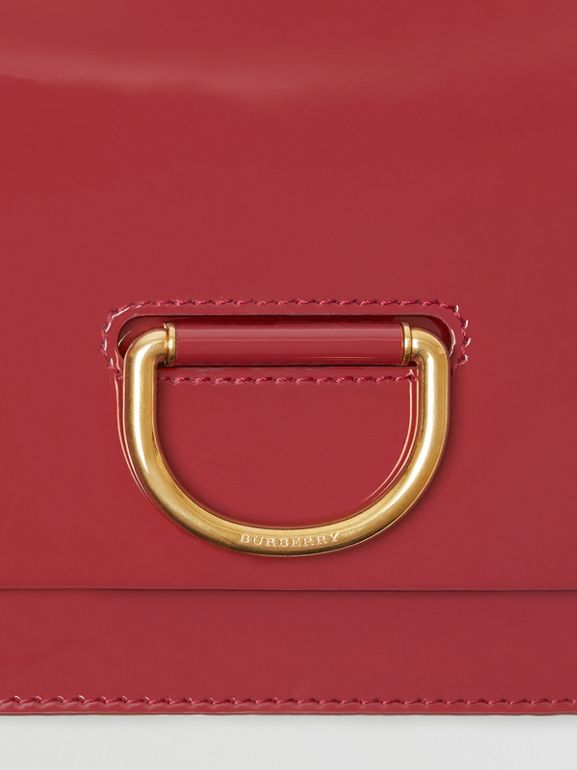 The Medium Patent Leather D-ring Bag in Crimson - Women | Burberry United Kingdom - cell image 1