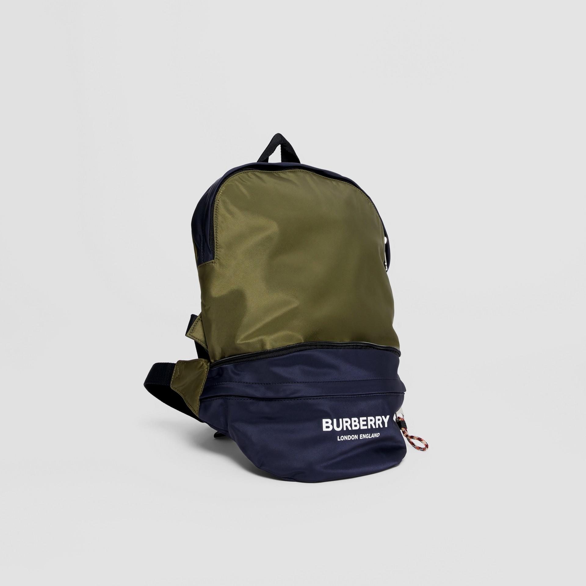 Двухцветная сумка-трансформер с логотипом (Регентский Синий) - Для детей | Burberry - изображение 4