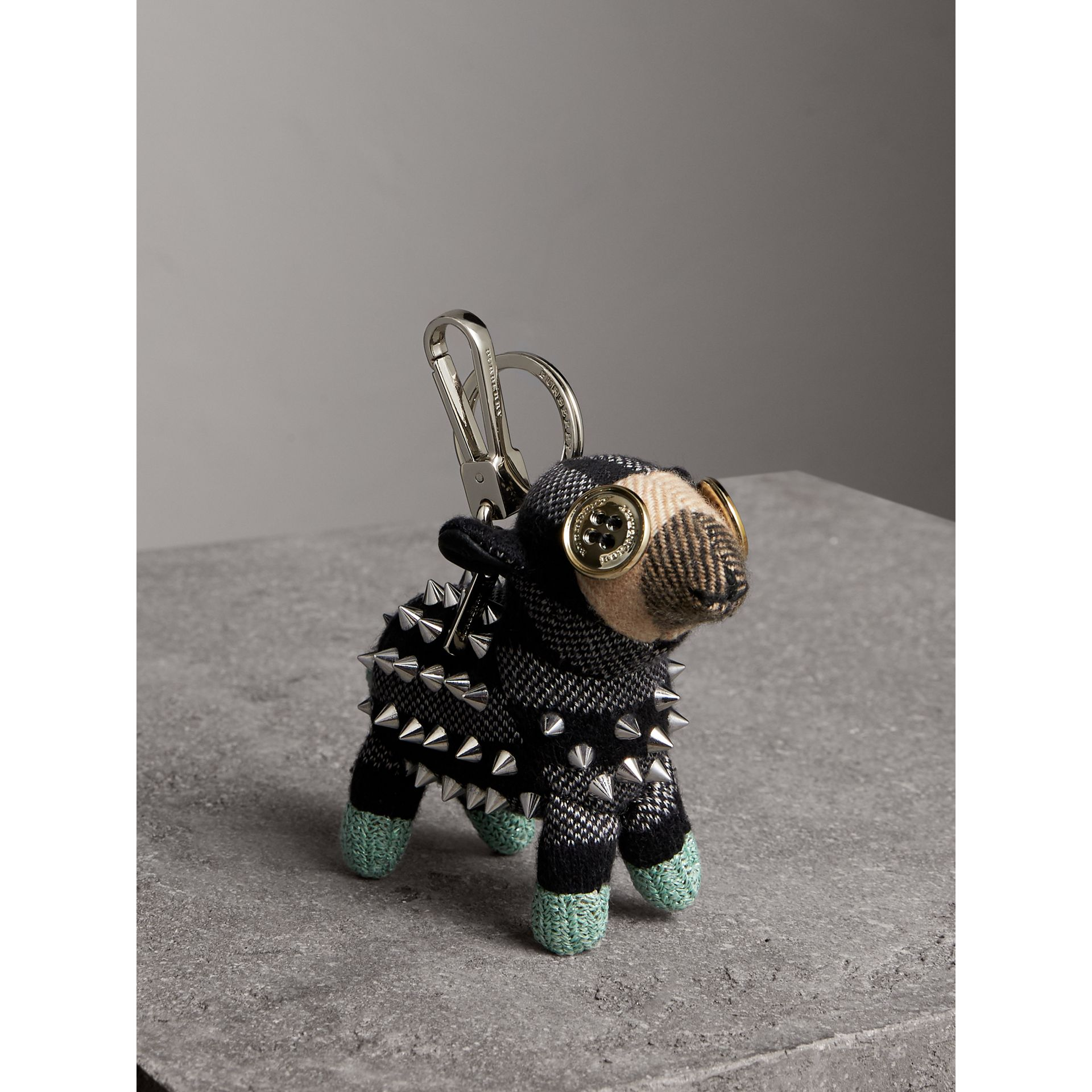 Wendy The Sheep Cashmere Charm in Black | Burberry Australia - gallery image 1