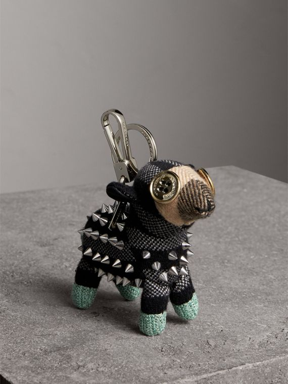 Wendy The Sheep Cashmere Charm in Black