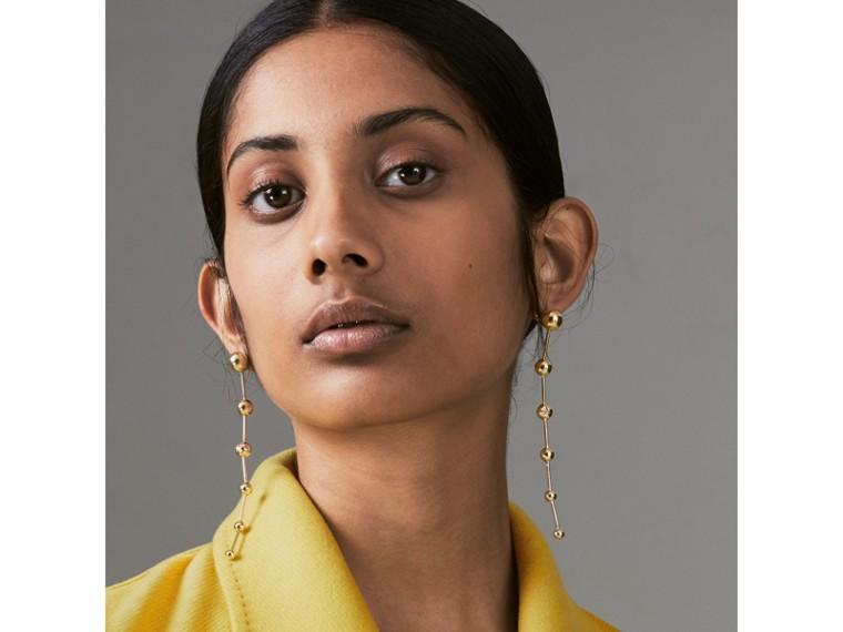 Pendants d'oreilles plaqués or avec charme en cristal (Clair) - Femme | Burberry Canada - cell image 2