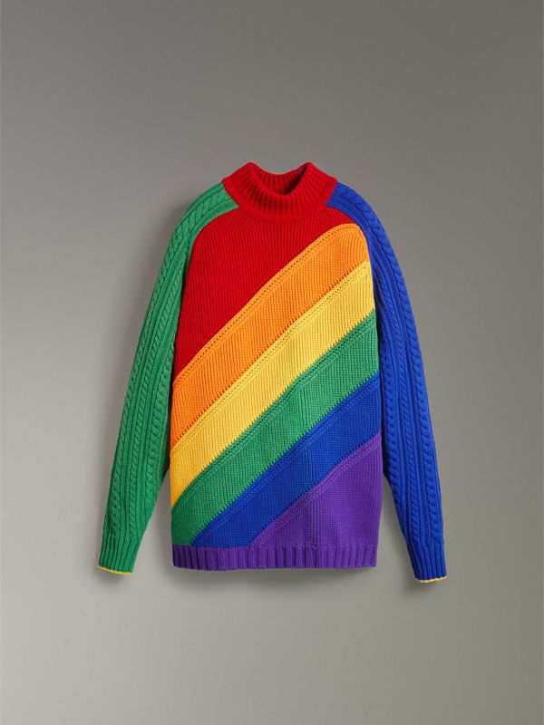 Rainbow Wool Cashmere Sweater | Burberry Singapore - cell image 3