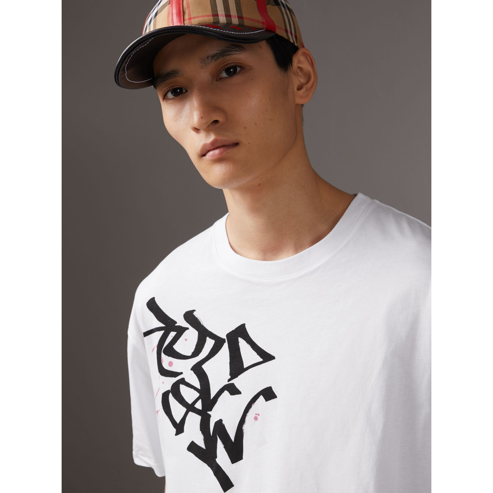 Burberry x Kris Wu Printed Cotton T-shirt in White - Men | Burberry United States - gallery image 1
