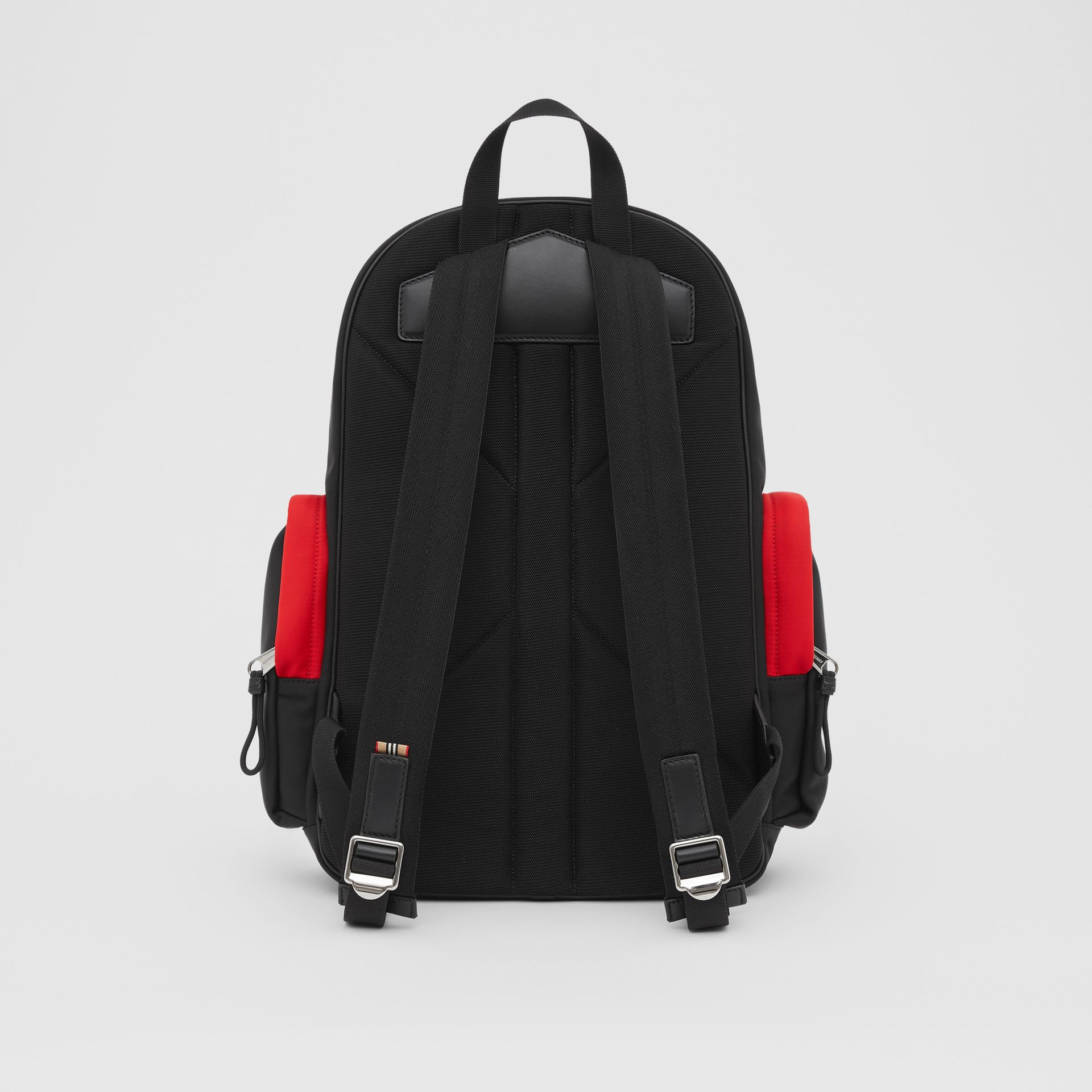 Large Colour Block Nevis Backpack in White/red/black | Burberry - gallery image 9