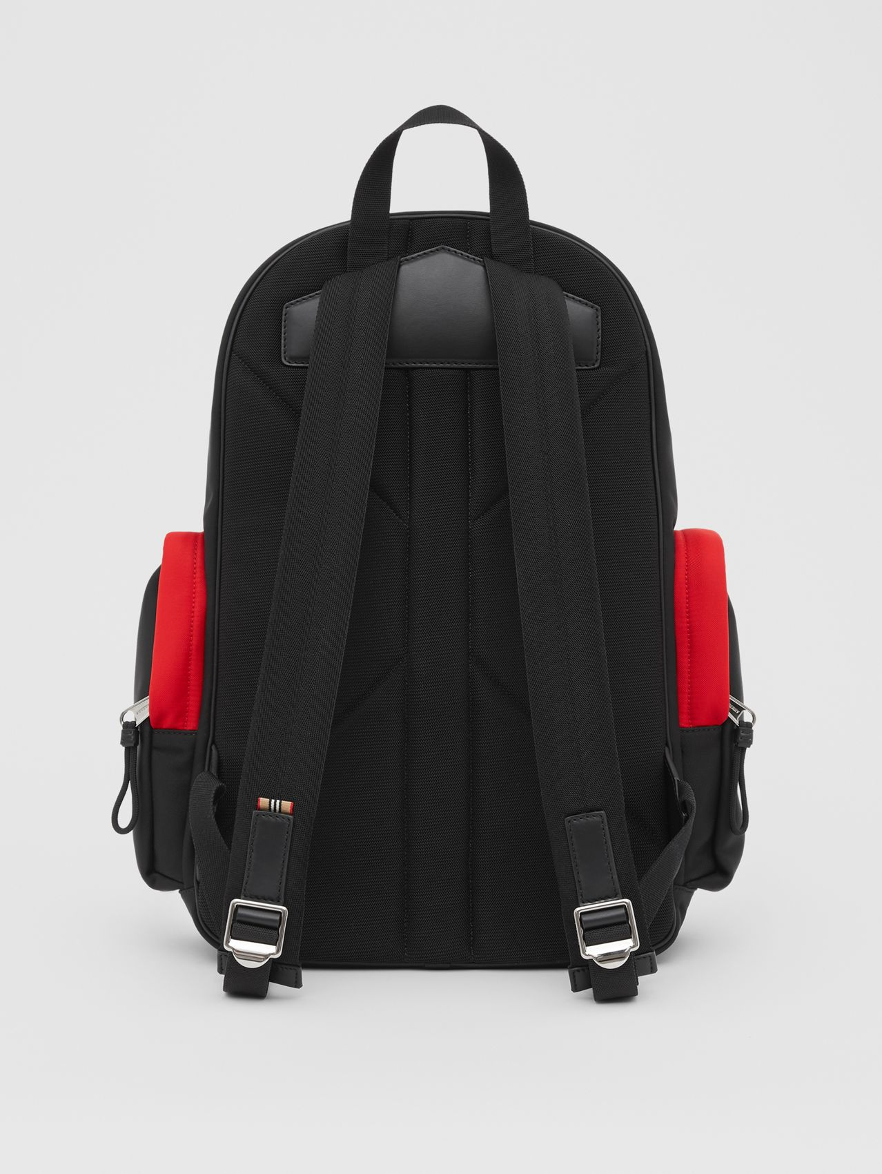 Large Colour Block Nevis Backpack in White/red/black