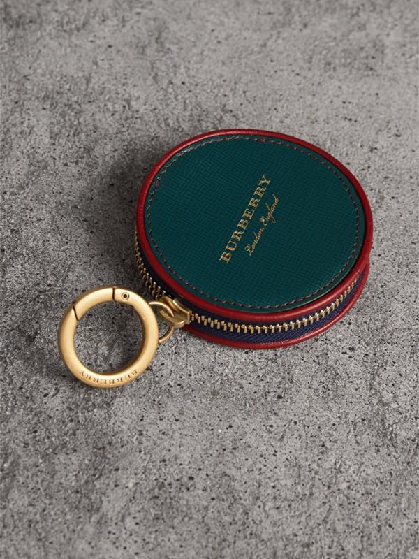 Porta-moedas de couro com motivo Creature (Verde Bandeira Escuro) - Homens | Burberry - cell image 2