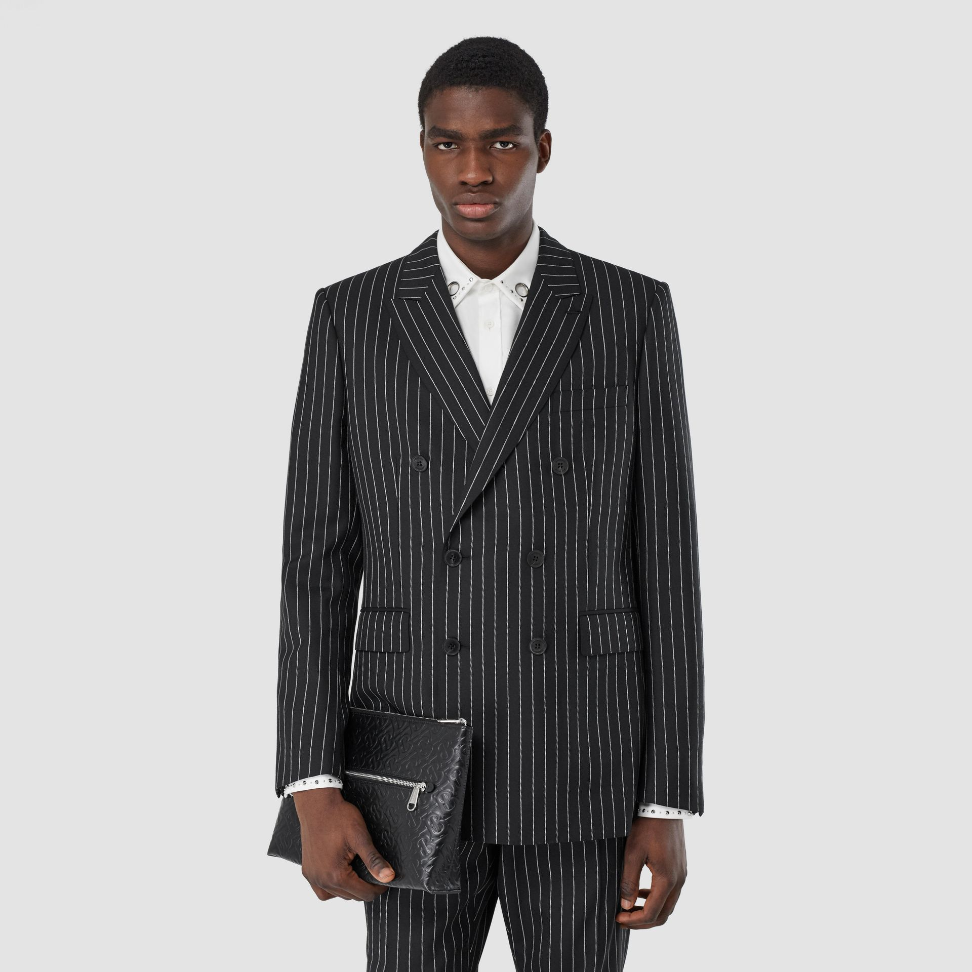 English Fit Pinstriped Wool Suit in Black - Men | Burberry United Kingdom - gallery image 6