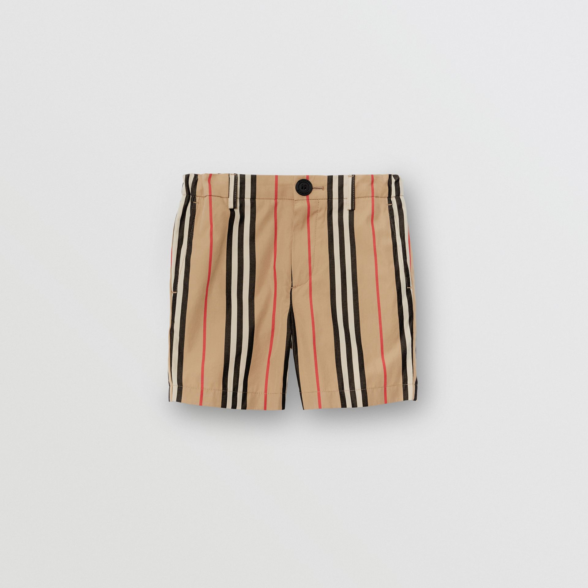 Icon Stripe Cotton Chino Shorts in Archive Beige | Burberry - gallery image 0