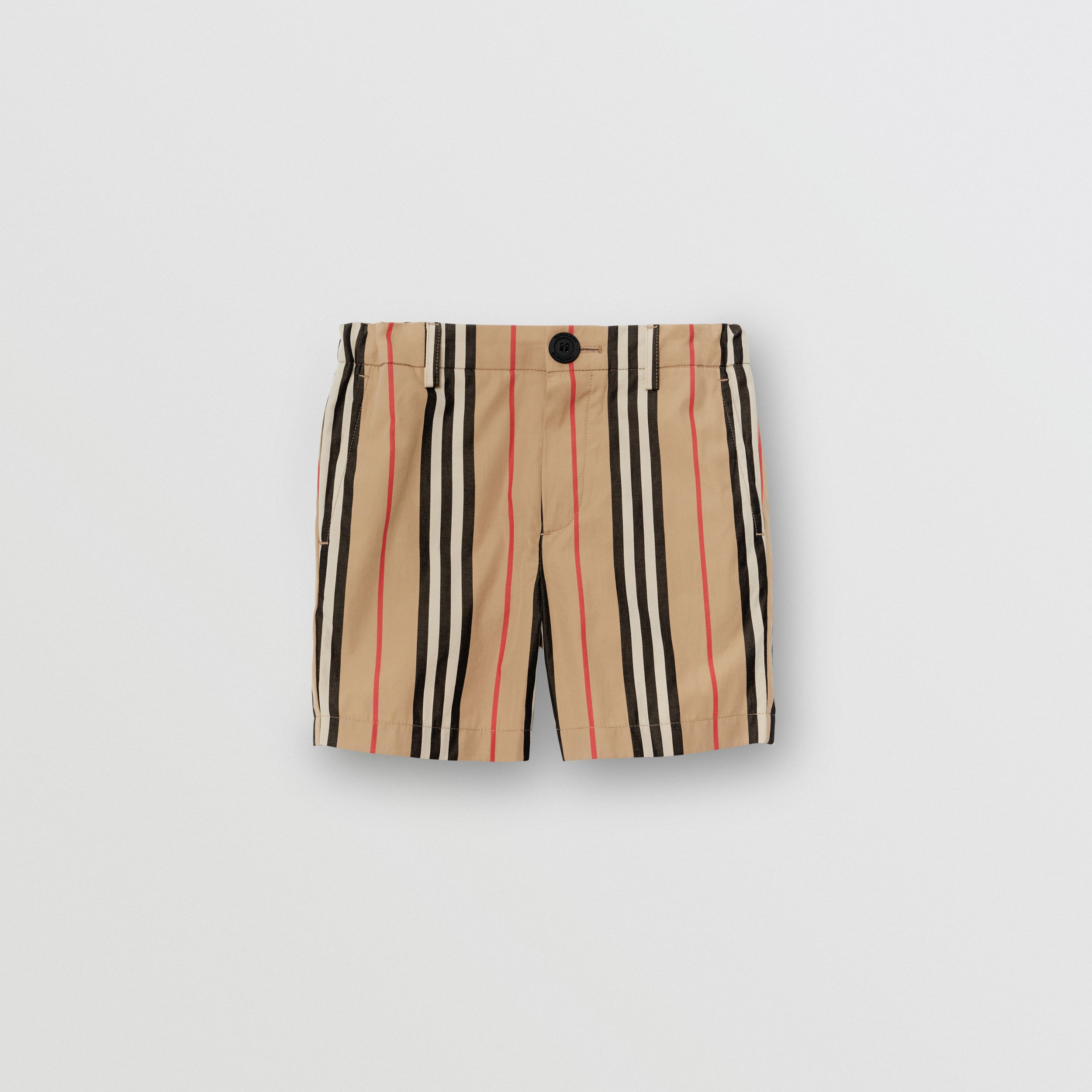 Icon Stripe Cotton Chino Shorts in Archive Beige | Burberry - 1