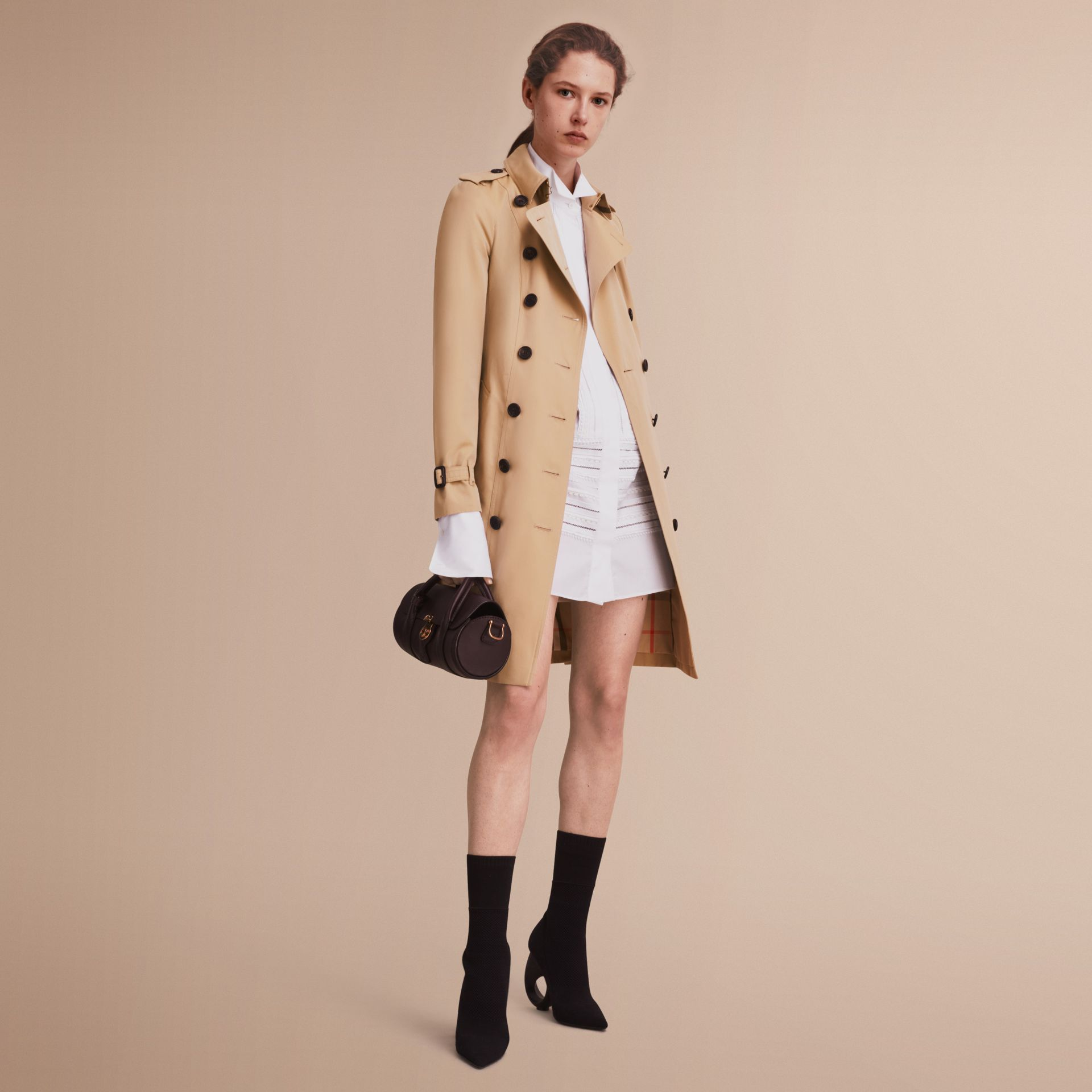 The Sandringham – Long Heritage Trench Coat in Honey - gallery image 7