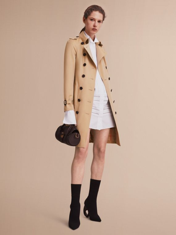 Trench coat Sandringham – Trench coat Heritage largo (Miel) - Mujer | Burberry