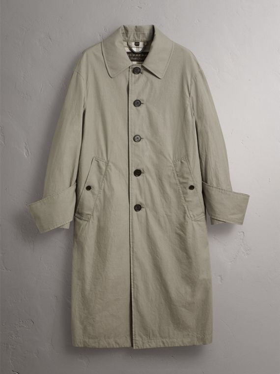 Unisex Tropical Gabardine Car Coat with Exaggerated Cuffs - Men | Burberry - cell image 3