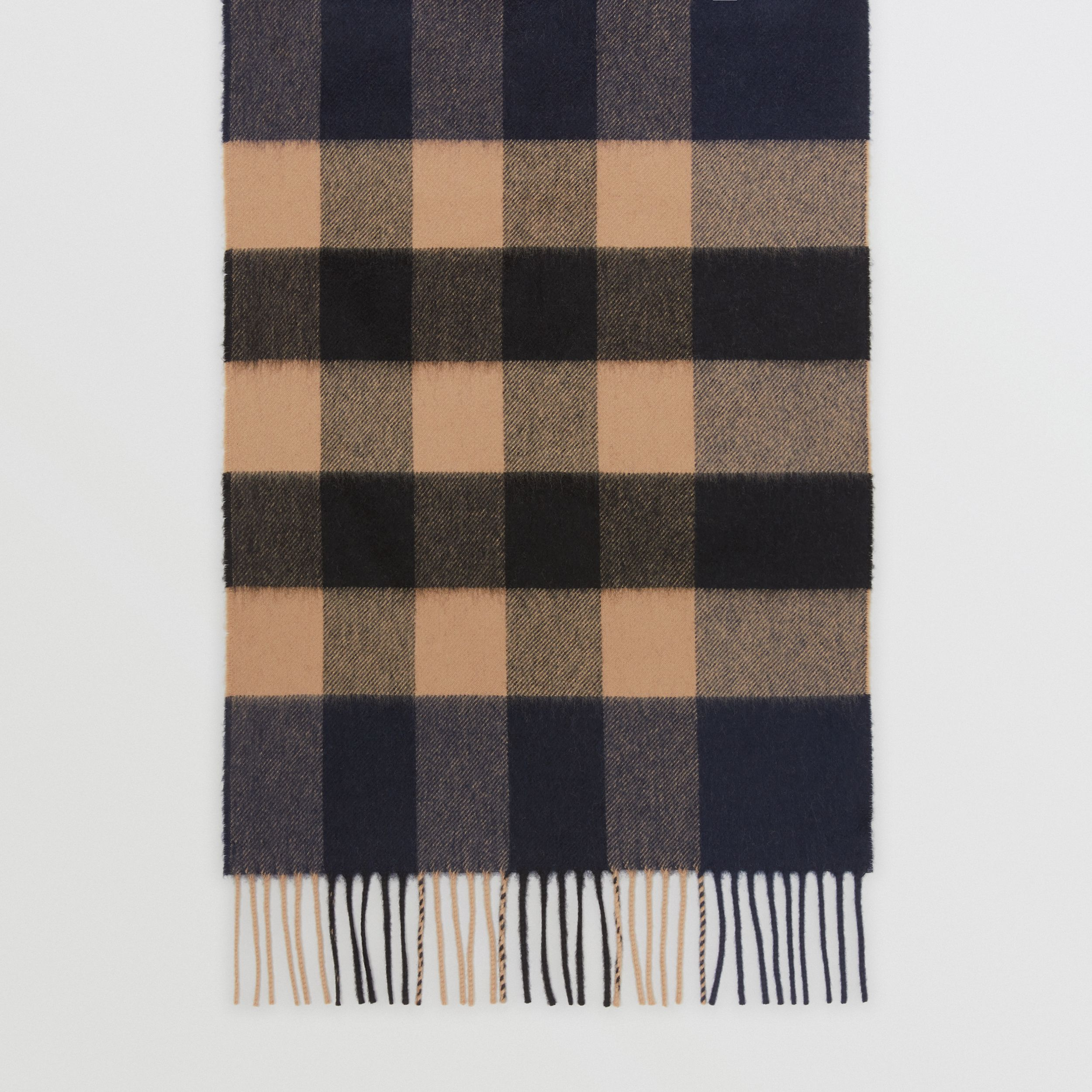 Check Cashmere Scarf in Indigo | Burberry - 3