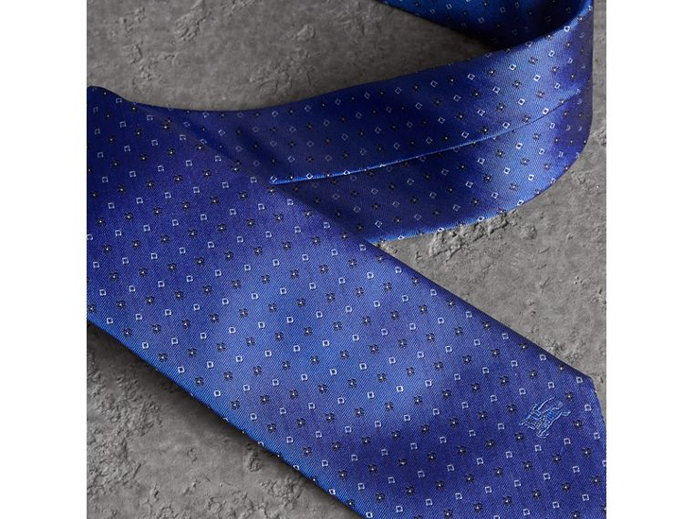 Modern Cut Micro Square Silk Tie in Bright Cobalt Blue - Men | Burberry Singapore - cell image 1
