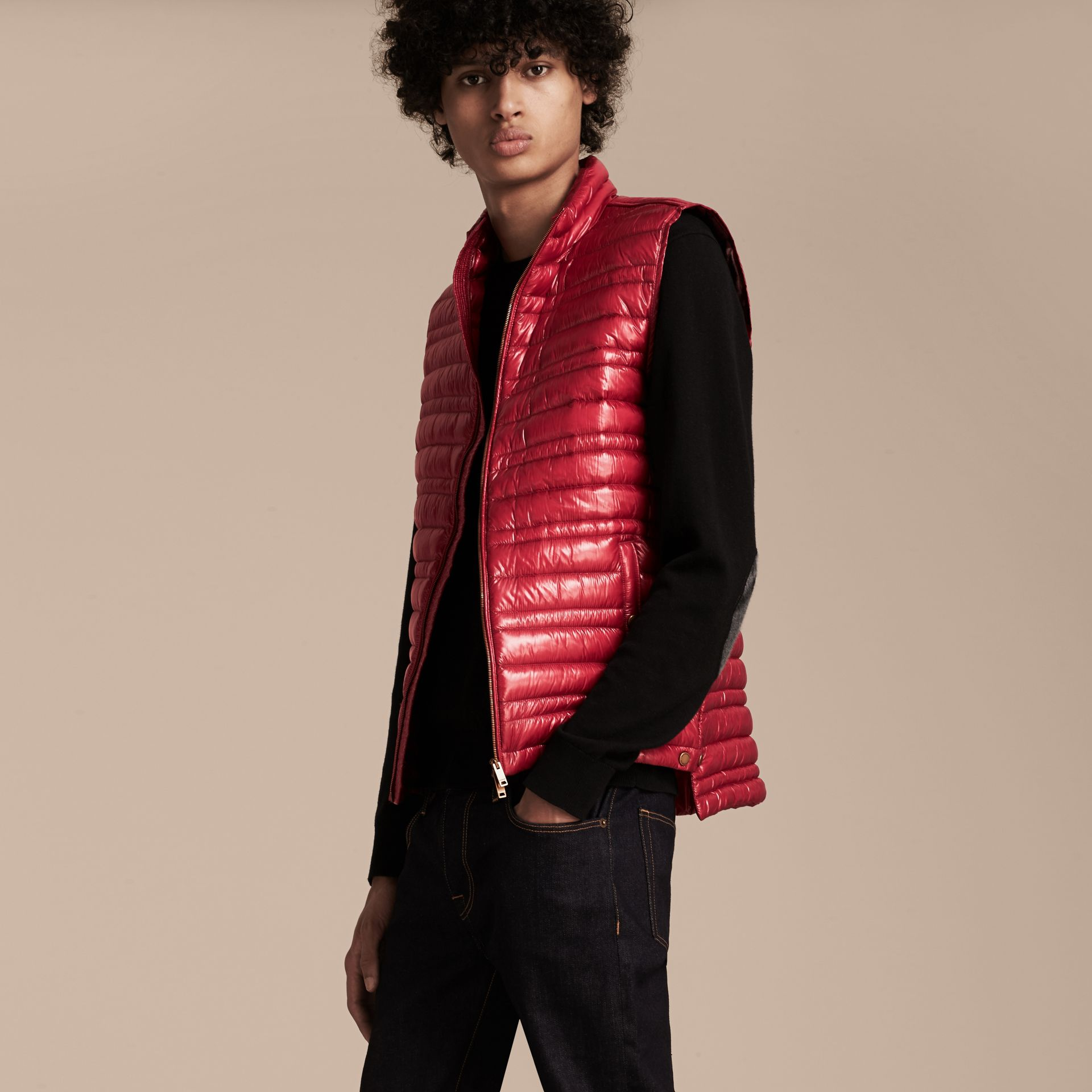 Parade red Lightweight Down-filled Gilet Parade Red - gallery image 6