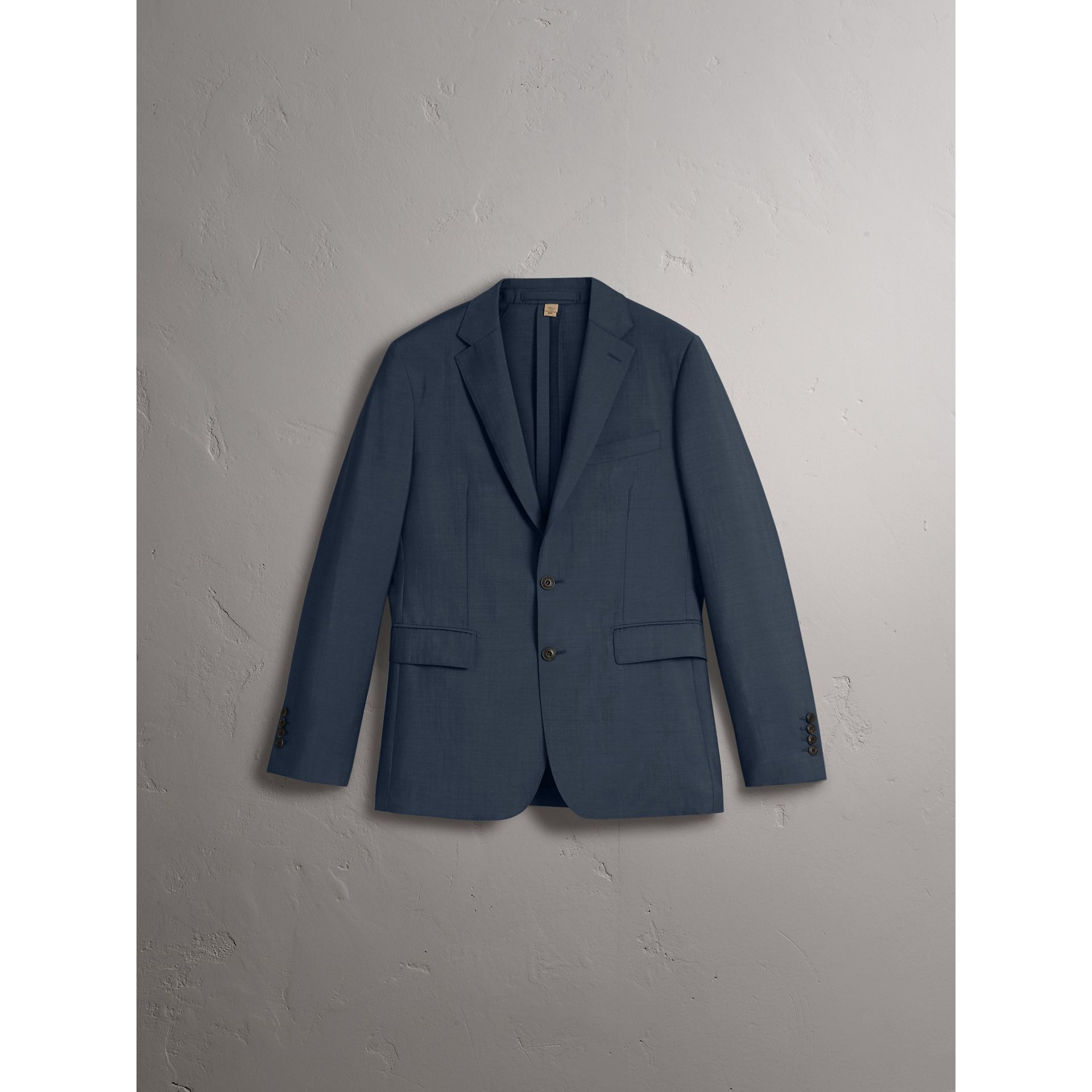 Soho Fit Wool Mohair Suit in Petrol Blue - Men | Burberry - gallery image 3