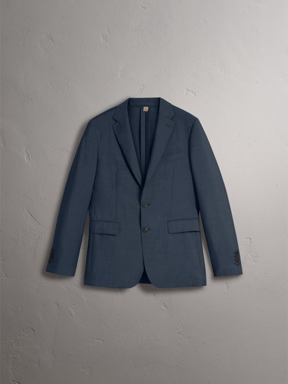 Soho Fit Wool Mohair Suit in Petrol Blue - Men | Burberry - cell image 3