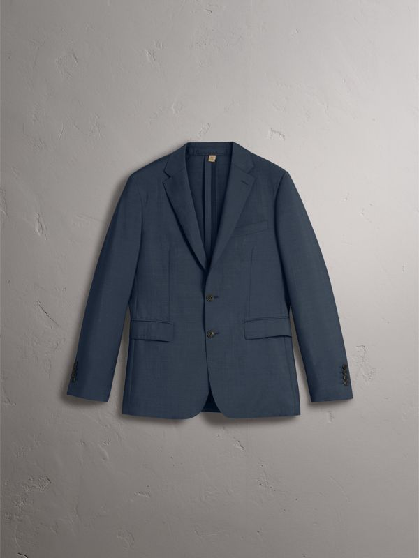 Soho Fit Wool Mohair Suit in Petrol Blue - Men | Burberry Hong Kong - cell image 3