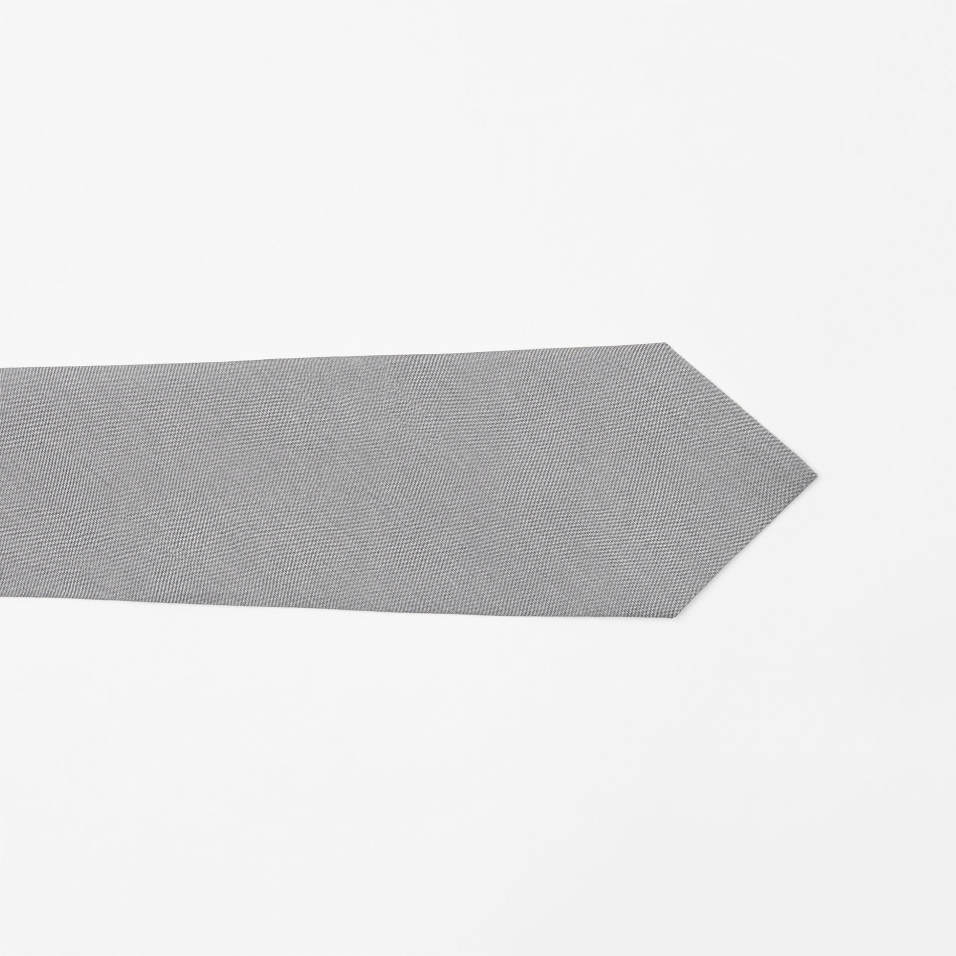 Classic Cut Silk Tie in Light Grey | Burberry - gallery image 1