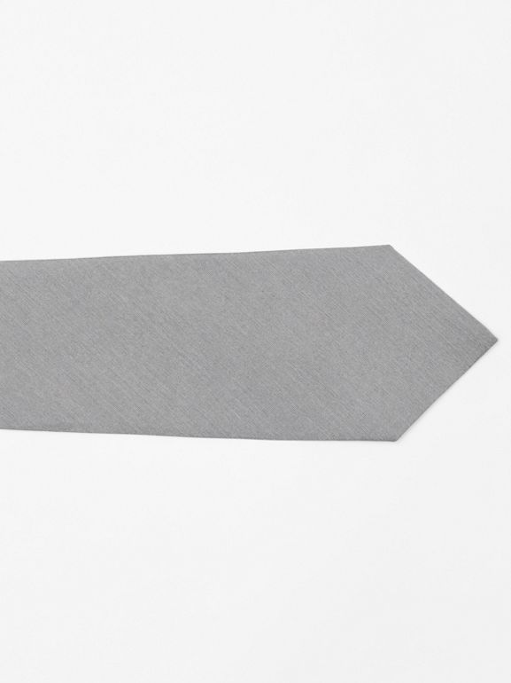 Classic Cut Silk Tie in Light Grey | Burberry - cell image 1