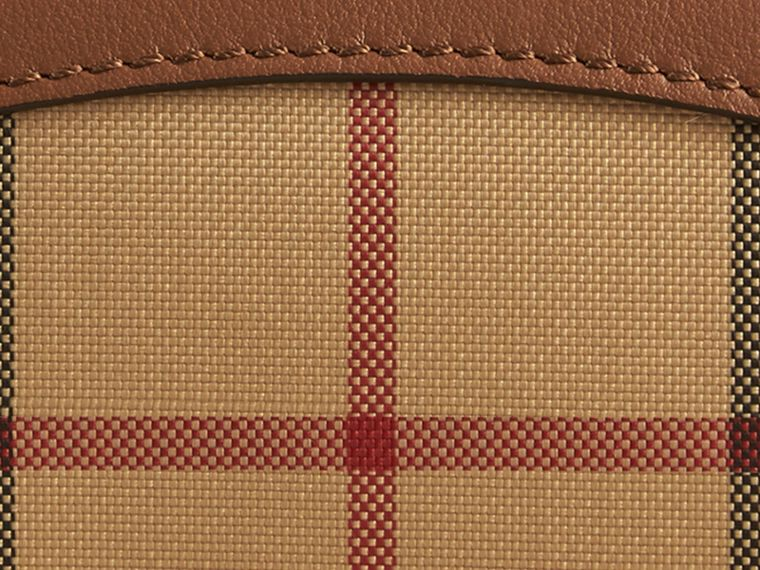 Horseferry Check and Leather Card Case Tan - cell image 1
