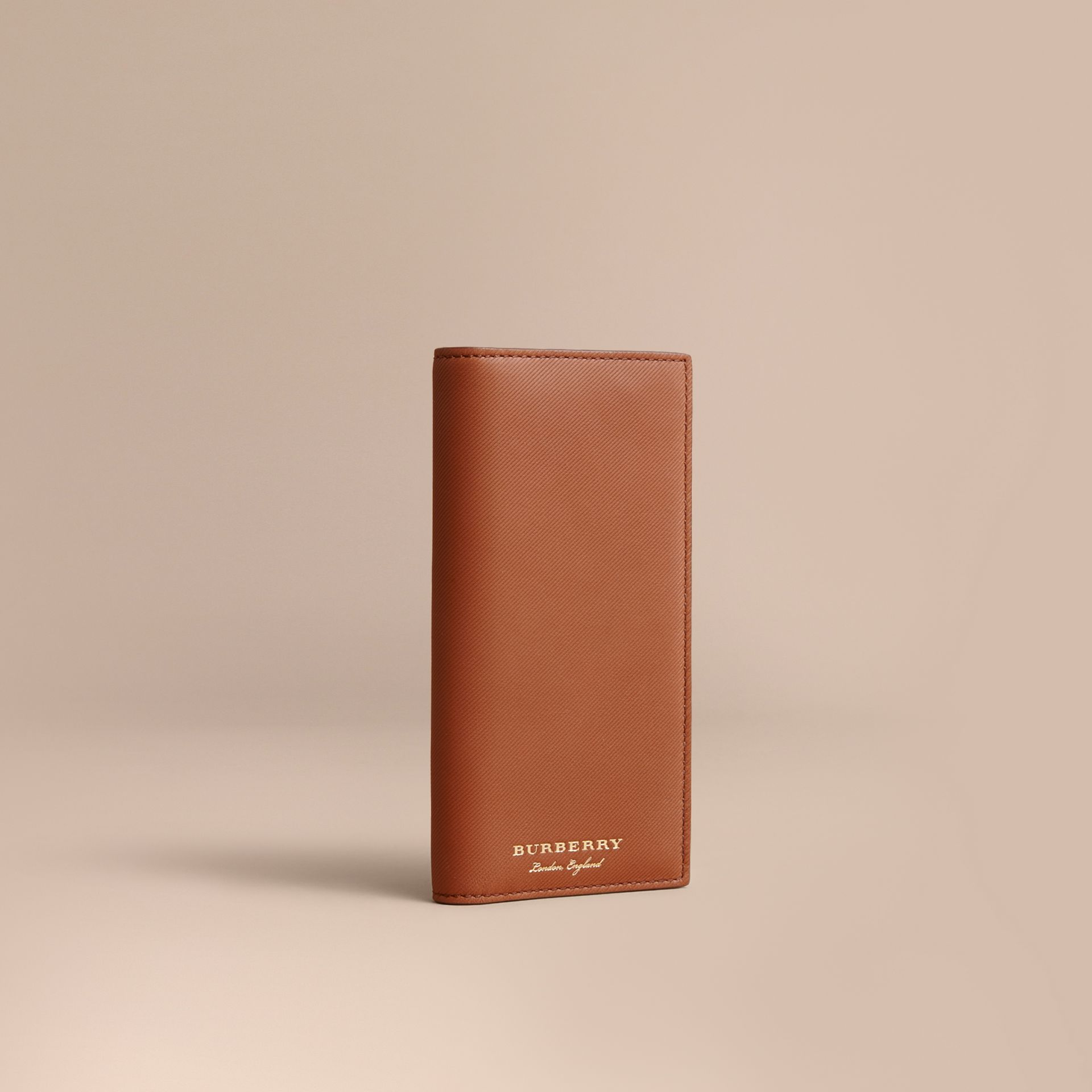 Trench Leather Continental Wallet Tan - gallery image 1