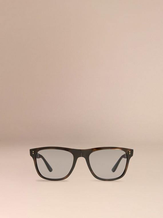 Folding Rectangular Frame Polarised Sunglasses in Grey - Men | Burberry Canada - cell image 2