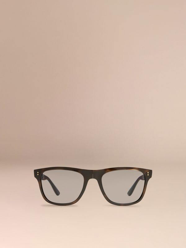 Folding Rectangular Frame Polarised Sunglasses in Grey - Men | Burberry Singapore - cell image 2