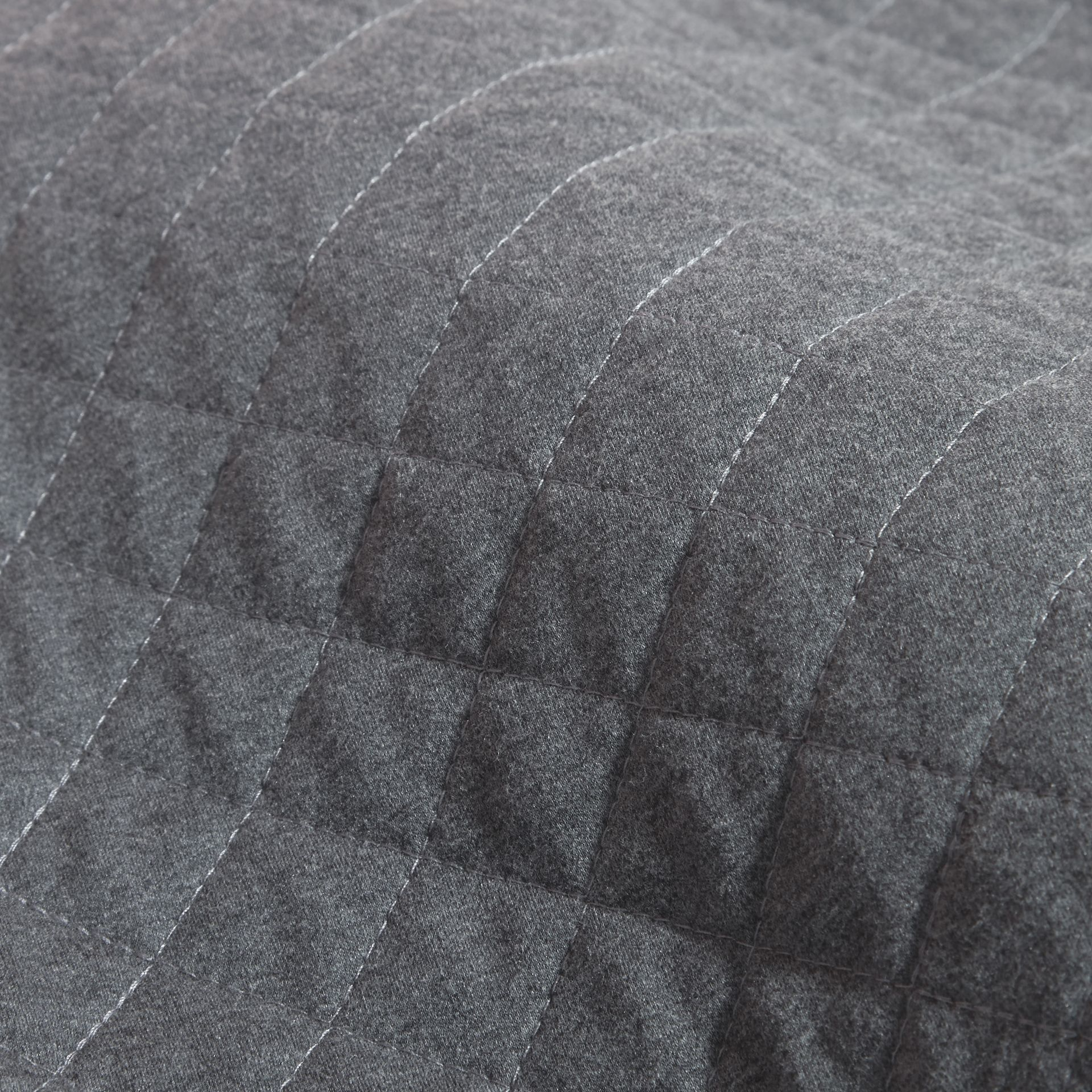 Camaïeu de gris sombres Robe de jour matelassée en jersey et coton à motif check Camaïeu  Gris Sombres - photo de la galerie 2