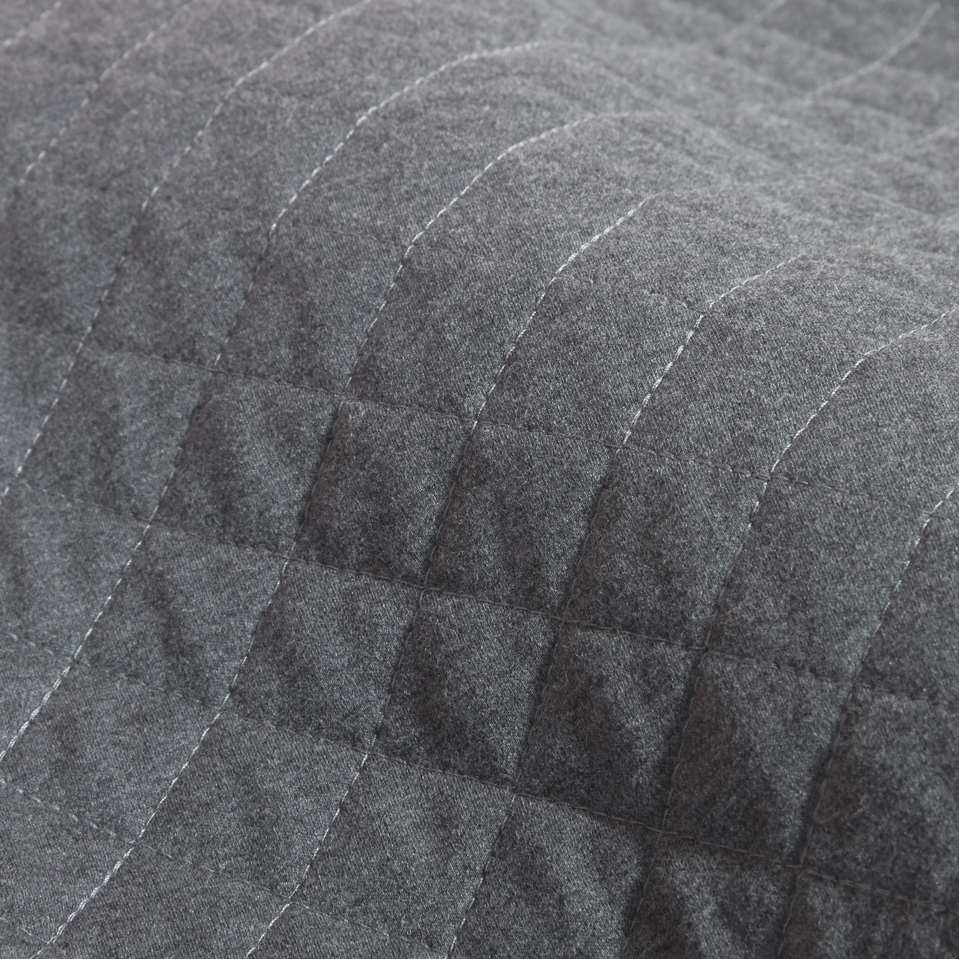Dark grey melange Quilted Jersey and Check Cotton Day Dress Dark Grey Melange - gallery image 2